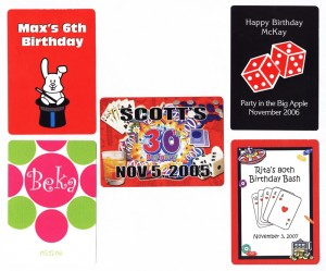 Custom playing cards for birthdays